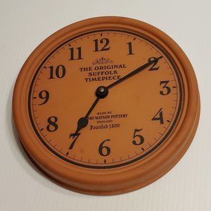 The Original Suffolk Timepiece Pottery Wall Clock